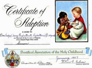 Pagan Baby Certificate of Adoption