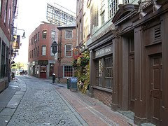 Historical street in Boston