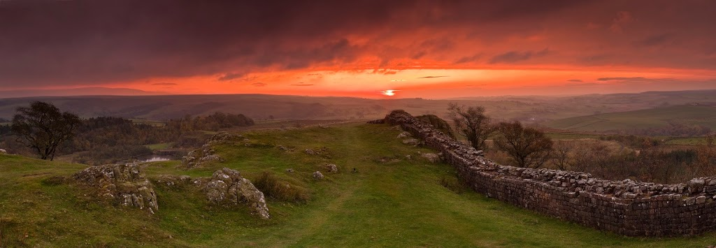 Sunset over Hadrian's Wall