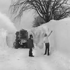 Walls of snow during the Blizzard of '77